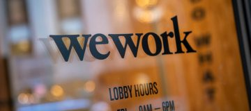 Wework IPO: Wework branding appears on one of its co-working spaces