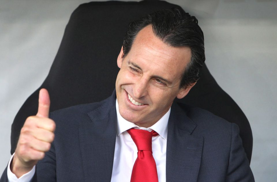 Arsenal's Spanish head coach Unai Emery reacts prior to the UEFA Europa League Group F football match Eintracht Frankfurt v Arsenal in Frankfurt am Main, western Germany, on September 19, 2019. (Photo by Daniel ROLAND / AFP)        (Photo credit should read DANIEL ROLAND/AFP/Getty Images)
