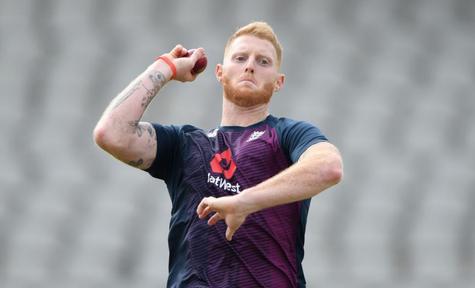 MANCHESTER, ENGLAND - SEPTEMBER 03: England player Ben Stokes in bowling action during England nets ahead of the 4th Test match at Emirates Old Trafford on September 03, 2019 in Manchester, England. (Photo by Stu Forster/Getty Images)