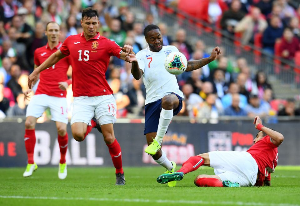 LONDON, ENGLAND - SEPTEMBER 07:  Raheem Sterling of England in action during the UEFA Euro 2020 qualifier match between England and Bulgaria at Wembley Stadium on September 07, 2019 in London, England. (Photo by Clive Mason/Getty Images)