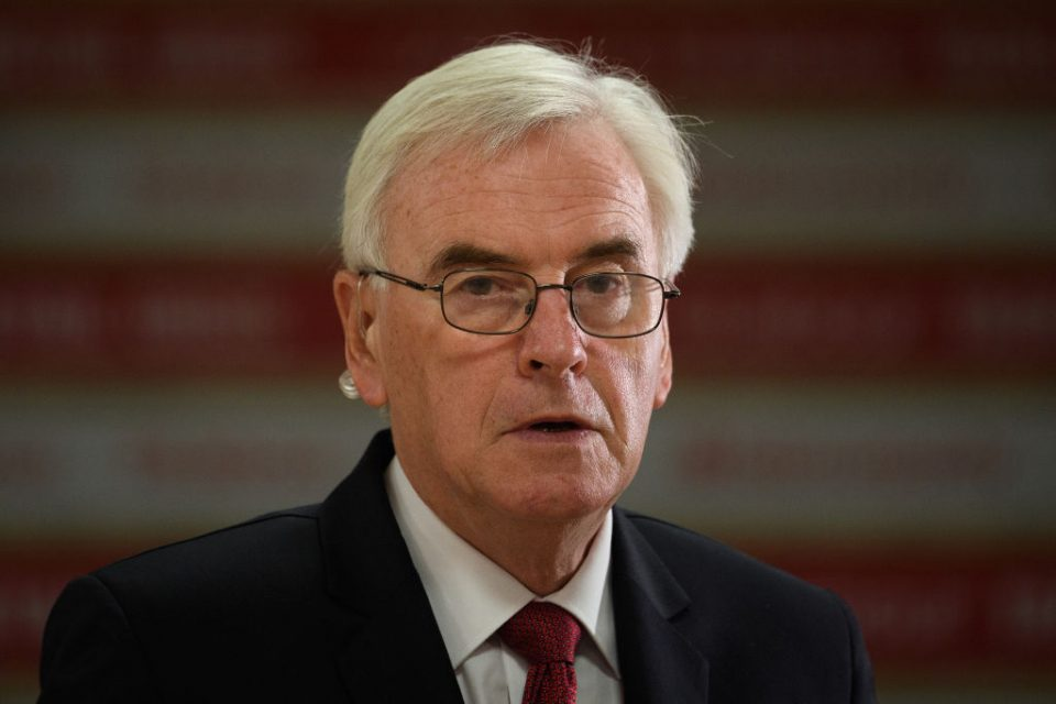Shadow chancellor John McDonnell is due to speak at Labour's conference in Brighton today (Getty)