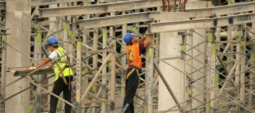Construction industry output 'drops like a brick' to a decade low