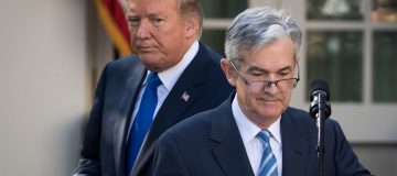Trump says he's 'not thrilled' with Fed but won't fire chair Powell