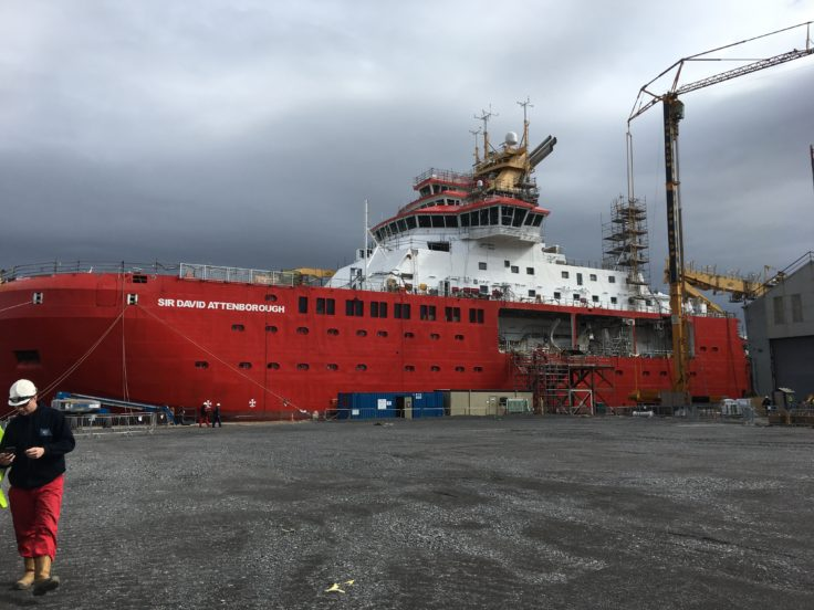 The red RSS Sir David Attenborough vessel was almost named Boaty McBoatface