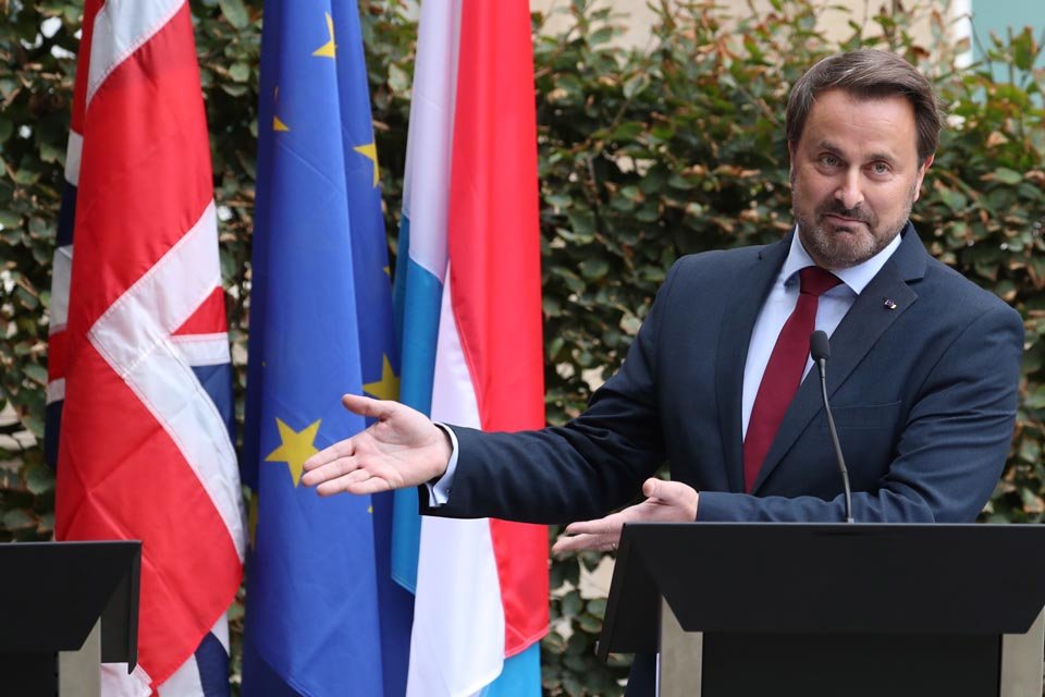 Row breaks out over Boris Johnson's 'empty podium' moment in Luxembourg