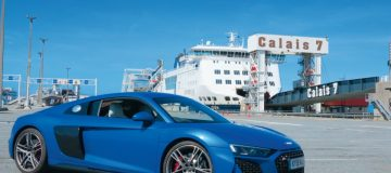 Putting the new Audi R8 through its paces on some hair-raising roads from Calais to Paris to Provence