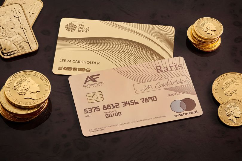 Royal Mint launches solid gold debit card worth £20,000