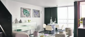 'Retro-futurist' interiors bring brutalist Balfron Tower up to date