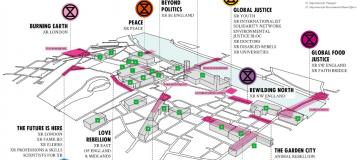 Extinction Rebellion London protests map