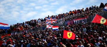 AUSTIN, TX - OCTOBER 21: Fans watch the action during the United States Formula One Grand Prix at Circuit of The Americas on October 21, 2018 in Austin, United States. (Photo by Charles Coates/Getty Images)