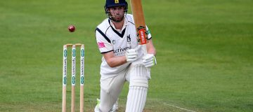 TAUNTON, ENGLAND - MAY 20: Dom Sibley of Warwickshire bats during Day One of the Specsavers County Championship match between Somerset and Warwickshire at at The Cooper Associates County Ground on May 20, 2019 in Taunton, England. (Photo by Alex Davidson/Getty Images)