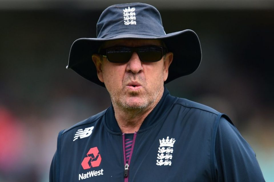 England's head coach Trevor Bayliss reacts ahead of play on the first day of the fifth Ashes cricket Test match between England and Australia at The Oval in London on September 12, 2019. (Photo by Glyn KIRK / AFP) / RESTRICTED TO EDITORIAL USE. NO ASSOCIATION WITH DIRECT COMPETITOR OF SPONSOR, PARTNER, OR SUPPLIER OF THE ECB        (Photo credit should read GLYN KIRK/AFP/Getty Images)
