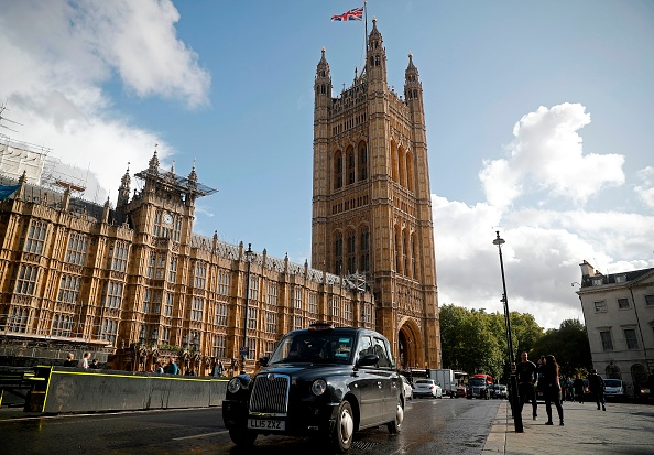 Man arrested after dousing himself in 'petrol' and carrying a lighter outside parliament