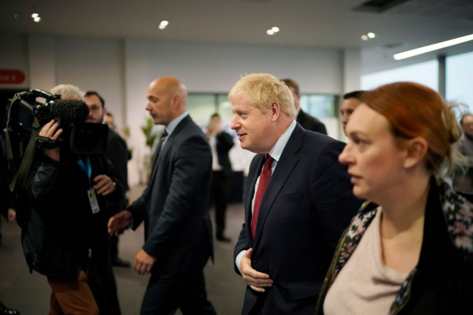 Boris Johnson attends the Conservative Party Conference on International Coffee Day