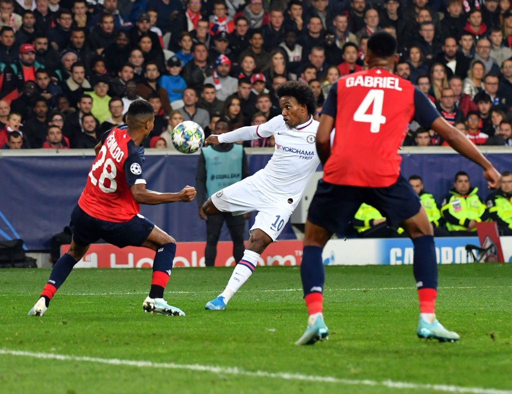 Lille 1-2 Chelsea: Willian's bolt from the blue secures vital away win for Lampard's side