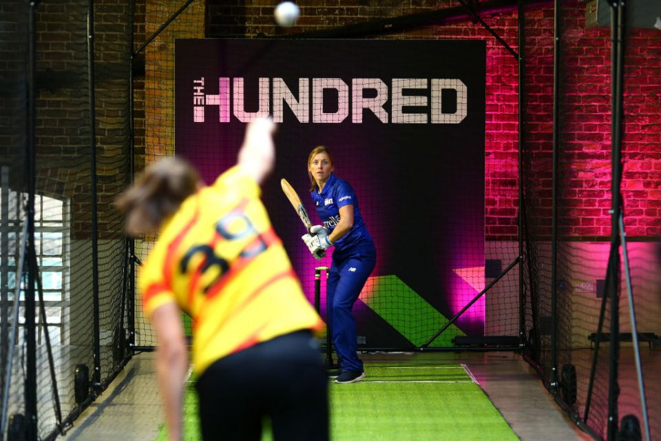 LONDON, ENGLAND - OCTOBER 03: Heather Knight of London Spirit one of the eight new mens and womens teams that will be competing in new 100 ball cricket competition, The Hundred, starting in summer 2020 during The Hundred Launch on October 3, 2019 in London, England. (Photo by Charlie Crowhurst/Getty Images for ECB)