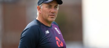 LONDON, ENGLAND - SEPTEMBER 10: England bowling coach Chris Silverwood during a nets session at The Kia Oval on September 10, 2019 in London, England. (Photo by Gareth Copley/Getty Images)