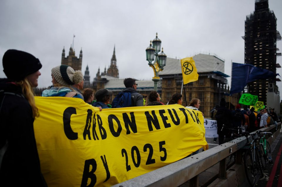 Extinction Rebellion London protests