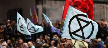 Extinction Rebellion blocks Bishopsgate as protests hit the City