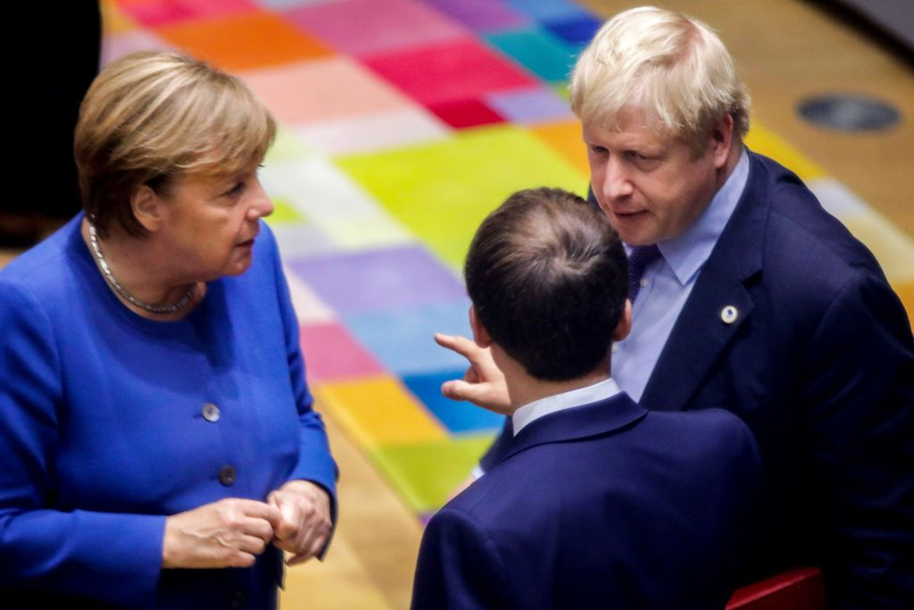 Boris Johnson's deal is on a knife edge as Angela Merkel calls on EU to support Brexit delay