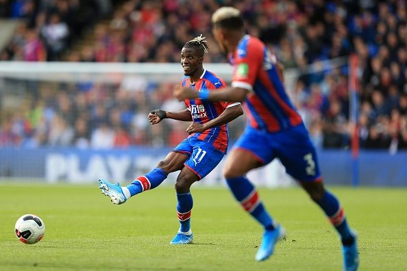 LONDON, ENGLAND - SEPTEMBER 28: Wilfried Zaha of Crystal Palace during the Premier League match between Crystal Palace and Norwich City at Selhurst Park on September 28, 2019 in London, United Kingdom. (Photo by Stephen Pond/Getty Images)
