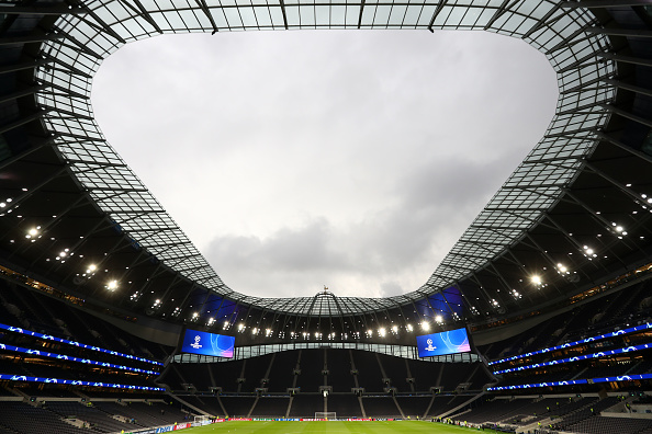 LONDON, ENGLAND - OCTOBER 01: General view inside the stadium prior to the UEFA Champions League group B match between Tottenham Hotspur and Bayern Muenchen at Tottenham Hotspur Stadium on October 01, 2019 in London, United Kingdom. (Photo by Julian Finney/Getty Images)