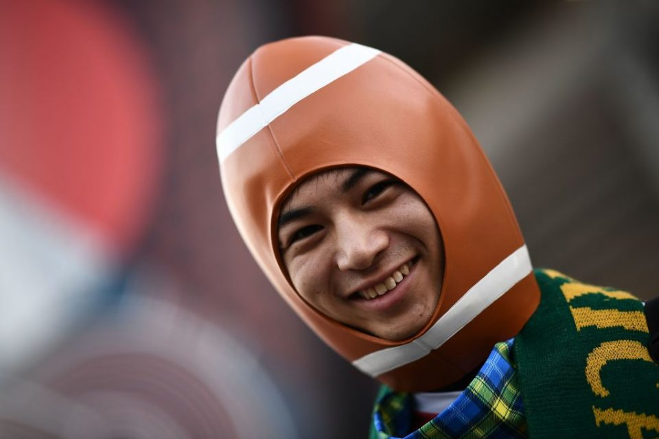 A fan at the 2019 Rugby World Cup in Japan