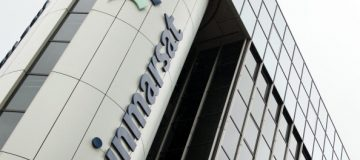 A pictures shows the offices of satellite operator Inmarsat in central London on March 25, 2014. Inmarsat said it managed to work out which direction the missing Malaysia Airlines plane flew in by measuring the Doppler effect of hourly 'pings' from the aircraft. Malaysia's prime minister announced earlier that the Inmarsat analysis of flight MH370's path placed its last position in remote waters off Australia's west coast, meaning it can only have run out of fuel above the southern Indian Ocean. AFP PHOTO / LEON NEAL (Photo credit should read LEON NEAL/AFP via Getty Images)