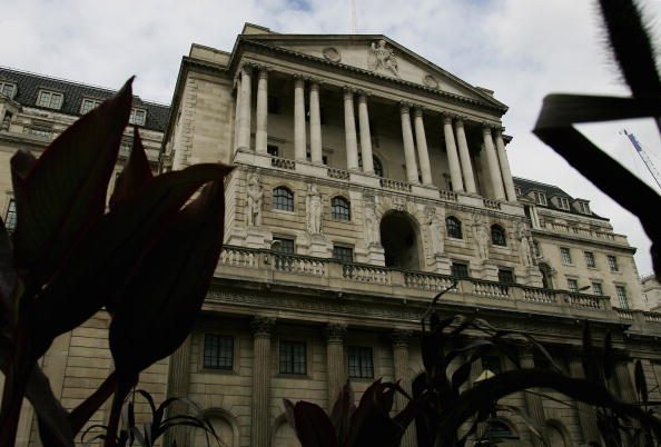 LONDON - JULY 05: Bank of England headquarters on Threadneedle Street in London City. Bank of England raised UK interest rates to 5.75per cent, which is its fifth rate rise since last August. (Photo by Cate Gillon/Getty Images)