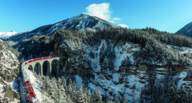 On the right track: We take the world's slowest express train linking the plush ski resorts of Zermatt and St Moritz