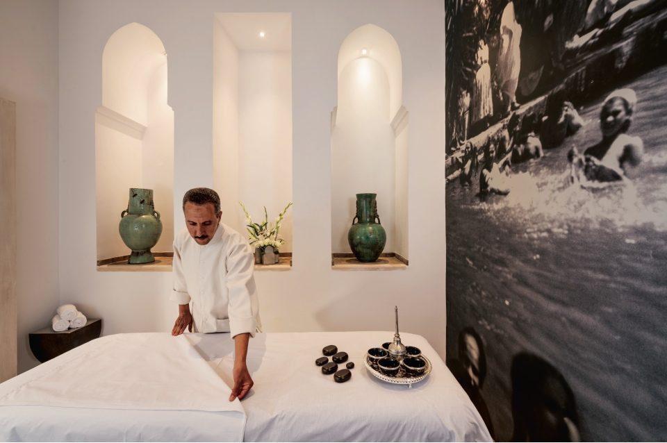 Massage therapist Ahmed Bihssi at Riad Farnatchi Spa