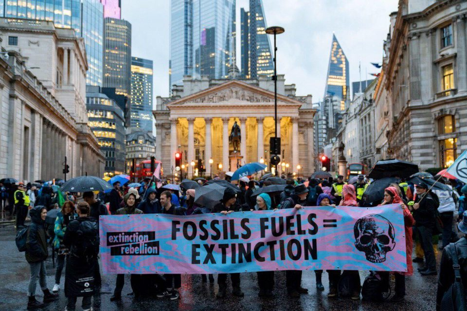 Extinction Rebellion protesters target City of London (Credit: Extinction Rebellion)