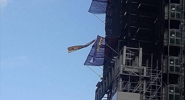 Extinction Rebellion activist dressed as Boris Johnson scales Big Ben scaffolding
