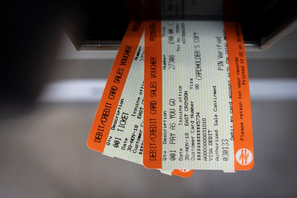 UK Rail Fares To Rise In 2019