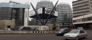 The Silicon Roundabout In Old Street, the heart of the uk's tech sector