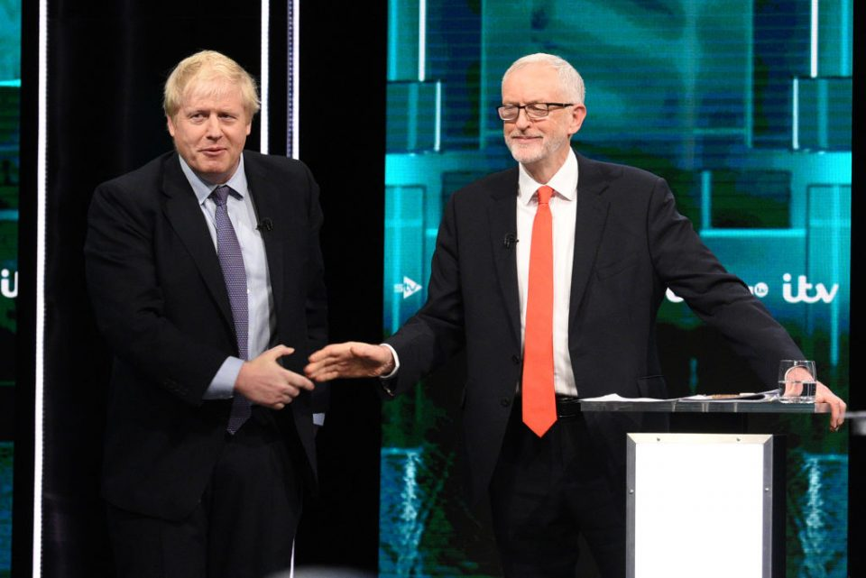 General election Jeremy Corbyn and Boris Johnson