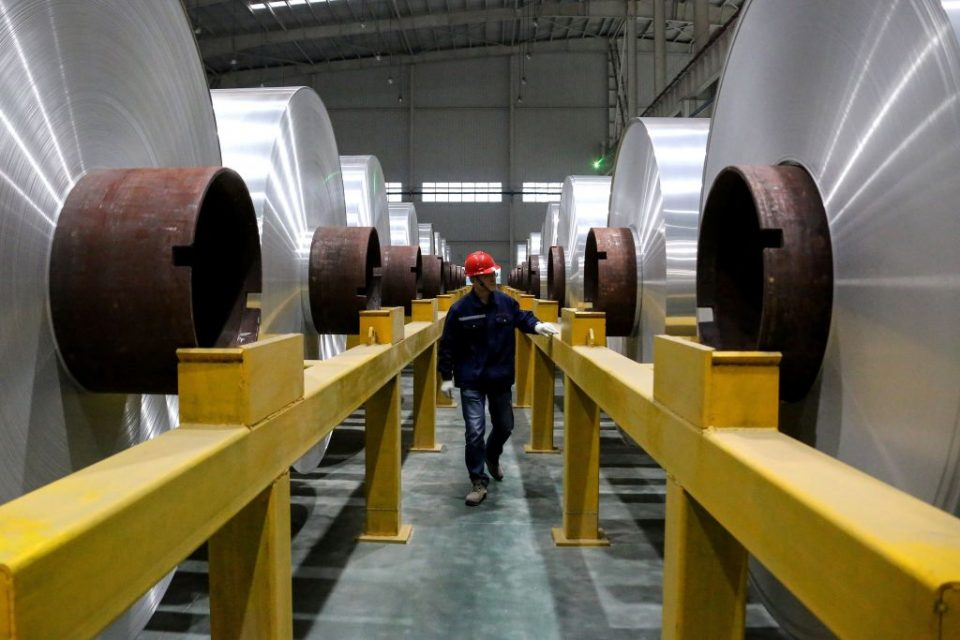 Chinese industrial profits fall at fastest in eight months