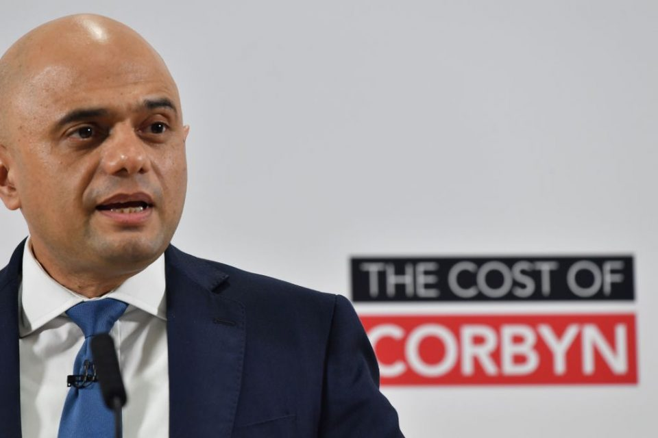 Sajid Javid attacks Labour's claims that only rich will pay for manifesto