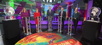 All UK party leaders apart from Boris Johnson and Nigel Farage took part in Channel 4's climate debate