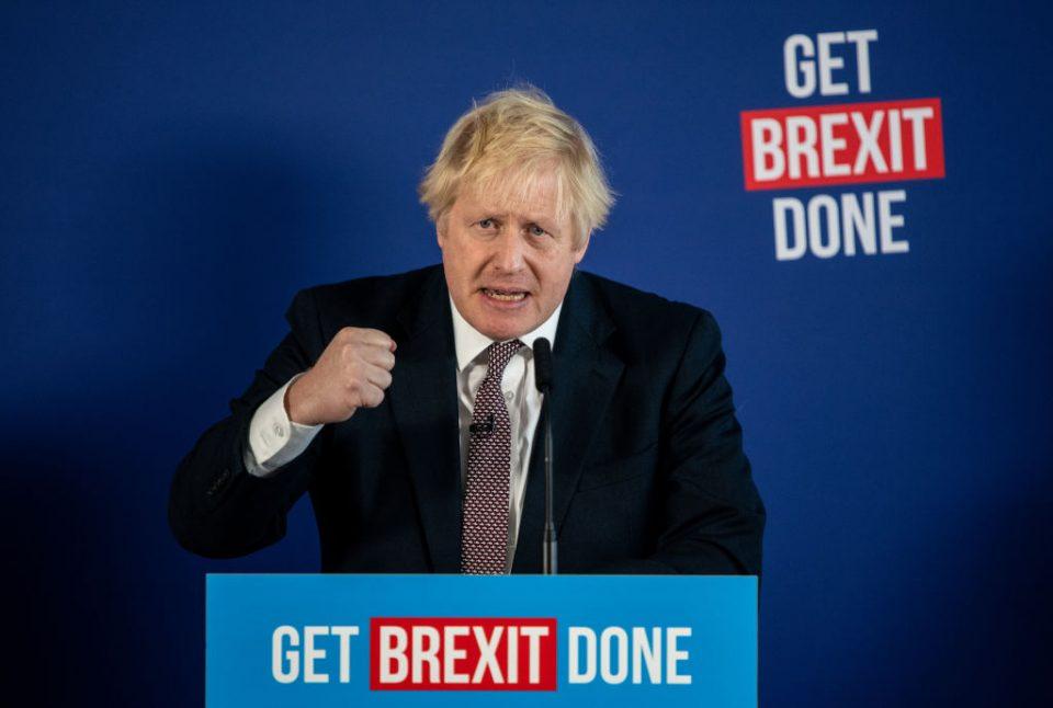 Boris Johnson And Michael Gove Hold Central London Press Conference