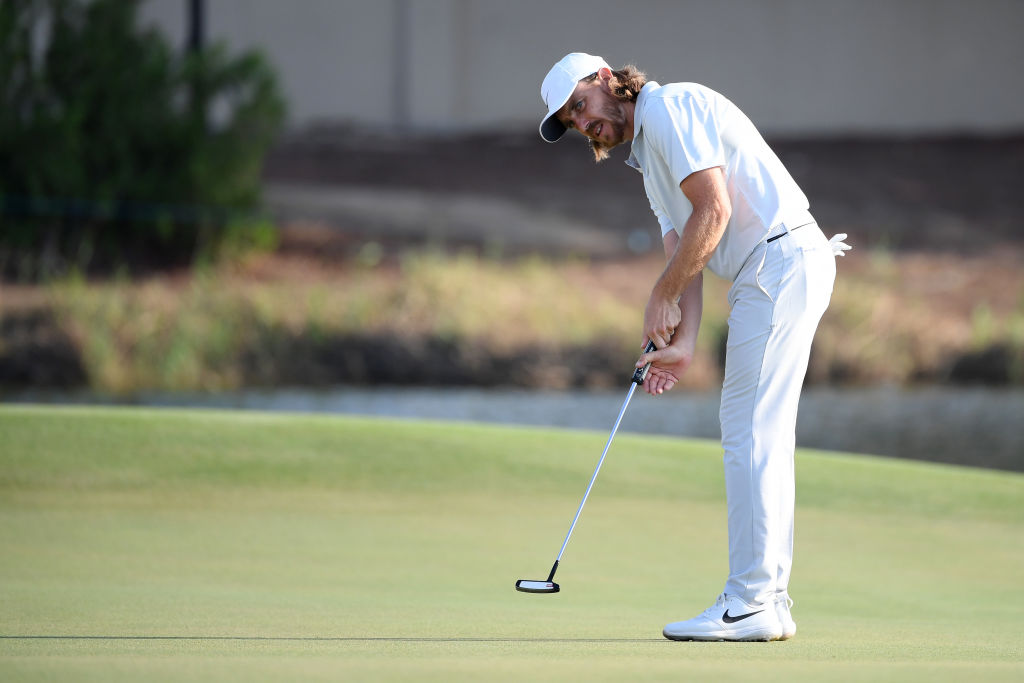 Tommy Fleetwood at the DP World Tour Championship Dubai