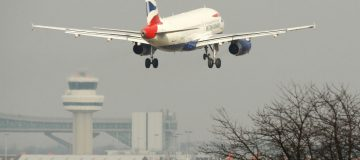A British Airways passenger plane comes