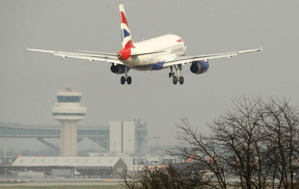 A British Airways passenger plane comes