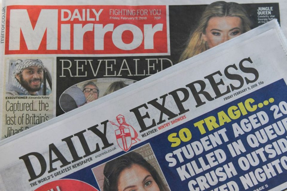 BRITAIN-BUSINESS-MEDIA-NEWSPAPERS-MIRROR-EXPRESS