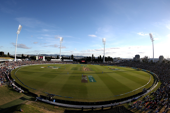 MOUNT MAUNGANUI, NEW ZEALAND - JANUARY 26: A general view during game two of the One Day International Series between New Zealand and India at Bay Oval on January 26, 2019 in Mount Maunganui, New Zealand. (Photo by Hannah Peters/Getty Images)
