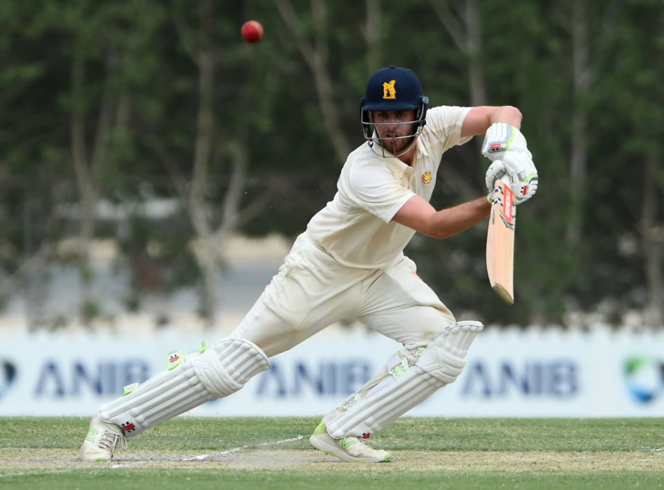 DUBAI, UNITED ARAB EMIRATES - MARCH 26: Dom Sibley of MCC bats during Day Three of Champion County Match between MCC and Surrey on March 26, 2019 in Dubai, United Arab Emirates. (Photo by Tom Dulat/Getty Images)