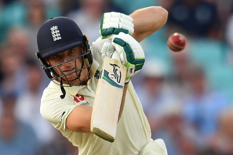 England's Jos Buttler plays a shot during play on the third day of the fifth Ashes cricket Test match between England and Australia at The Oval in London on September 14, 2019. (Photo by Glyn KIRK / AFP) / RESTRICTED TO EDITORIAL USE. NO ASSOCIATION WITH DIRECT COMPETITOR OF SPONSOR, PARTNER, OR SUPPLIER OF THE ECB        (Photo credit should read GLYN KIRK/AFP via Getty Images)