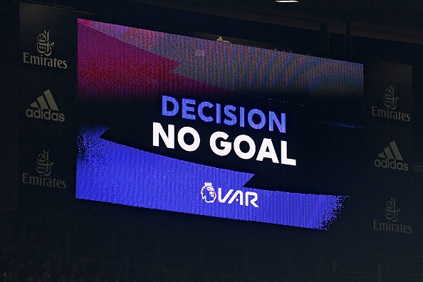 VAR decision shown on a big screen