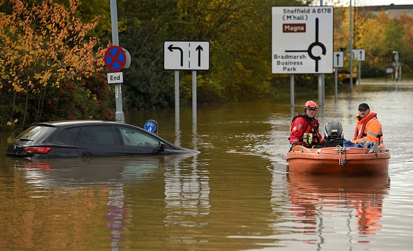 UK flooding in Yorkshire
