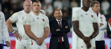 YOKOHAMA, JAPAN - NOVEMBER 02: Eddie Jones, the England head coach, looks on after their defeat during the Rugby World Cup 2019 Final between England and South Africa at International Stadium Yokohama on November 02, 2019 in Yokohama, Kanagawa, Japan. (Photo by David Rogers/Getty Images)